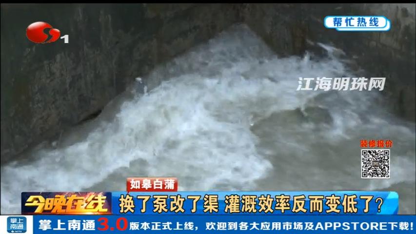 如皋白蒲:换了泵改了渠 灌溉效率反而变低了?