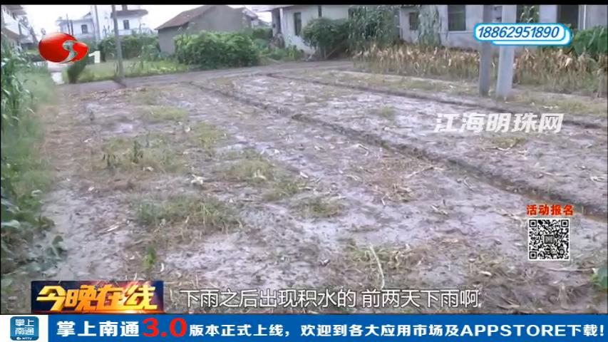 通州二甲:一场暴雨农田被淹 村委会承诺尽快解决