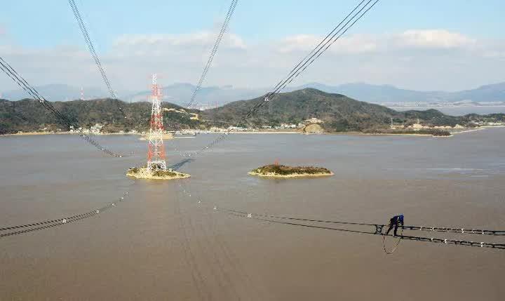 舟山电网大跨越 中天创新再跨越图片