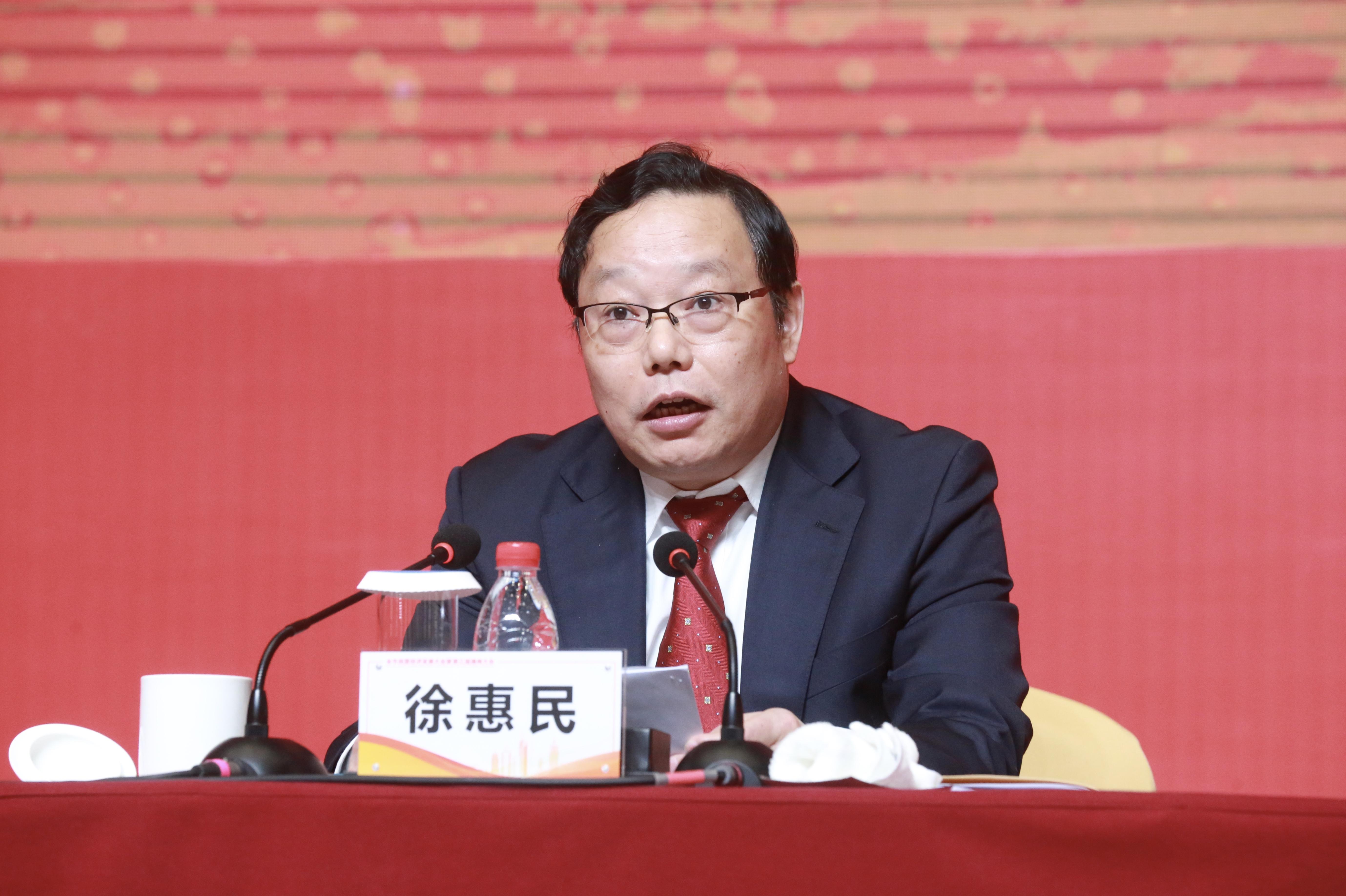 南通市委书记、市人大常委会主任徐惠民发表了热情洋溢的讲话